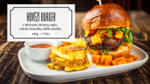 Hovězí burger s dýňovým chutney